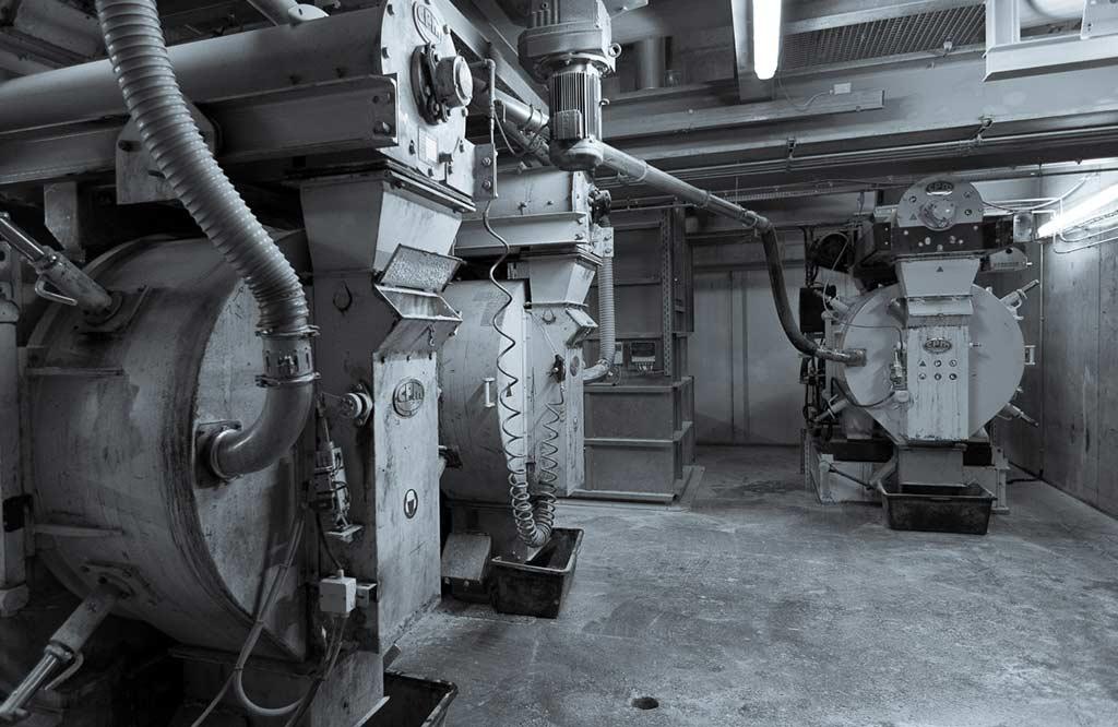 Drei baugleiche Pelletpressen ermöglichen eine kontinuierliche Herstellung